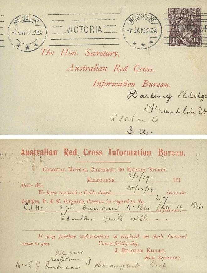 Red Cross postcard 1918