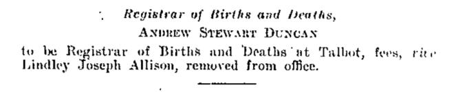 Victoria Government Gazette. No. 183. 19 August 1931. State Library of Victoria