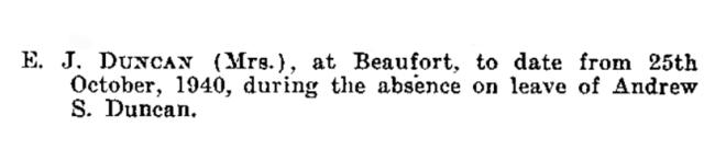 Victoria Government Gazette No. 341, 10 December 1941, page 4276. State Library of Victoria