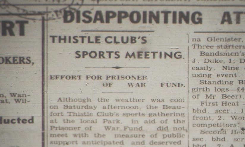 Beaufort Thistle Club 1942